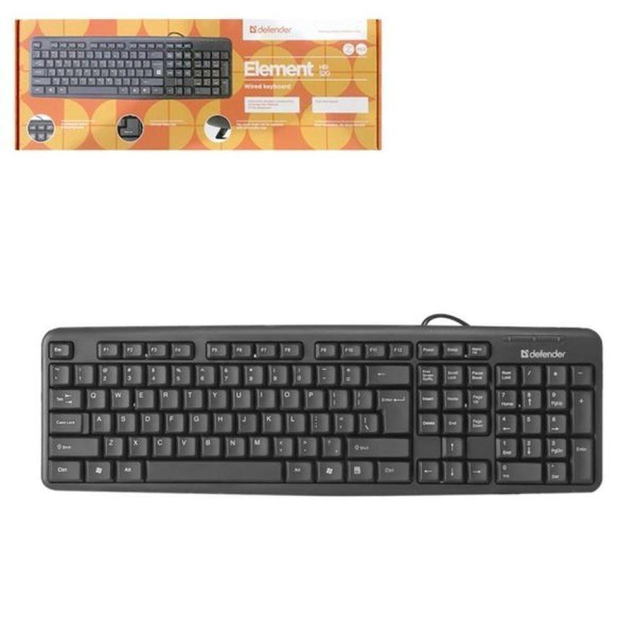 Клавиатура Defender проводная Element HB-520 PS/2 черный