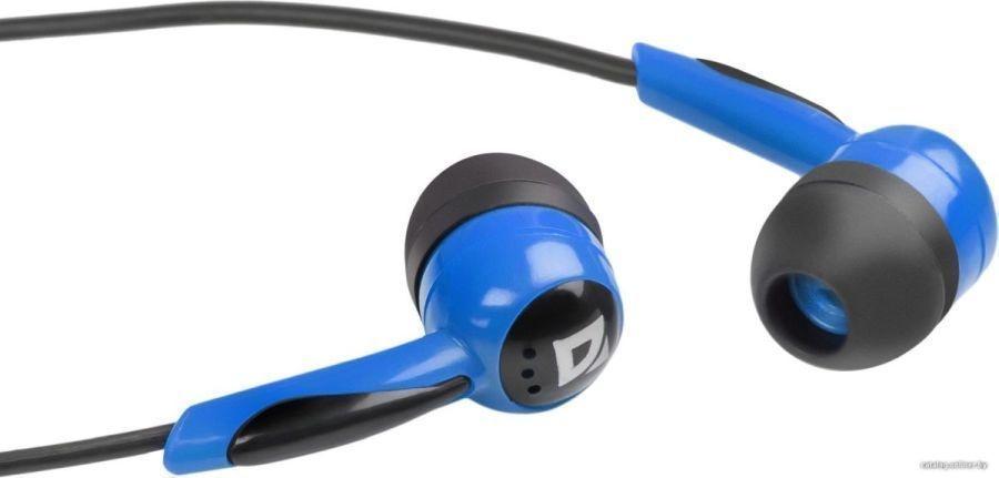Наушники DEFENDER вставки Basic 604 черный+синий