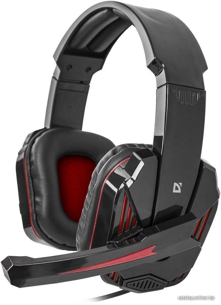 Гарнитура DEFENDER игровая Warhead G-260 красный черный, кабель 1,8 м