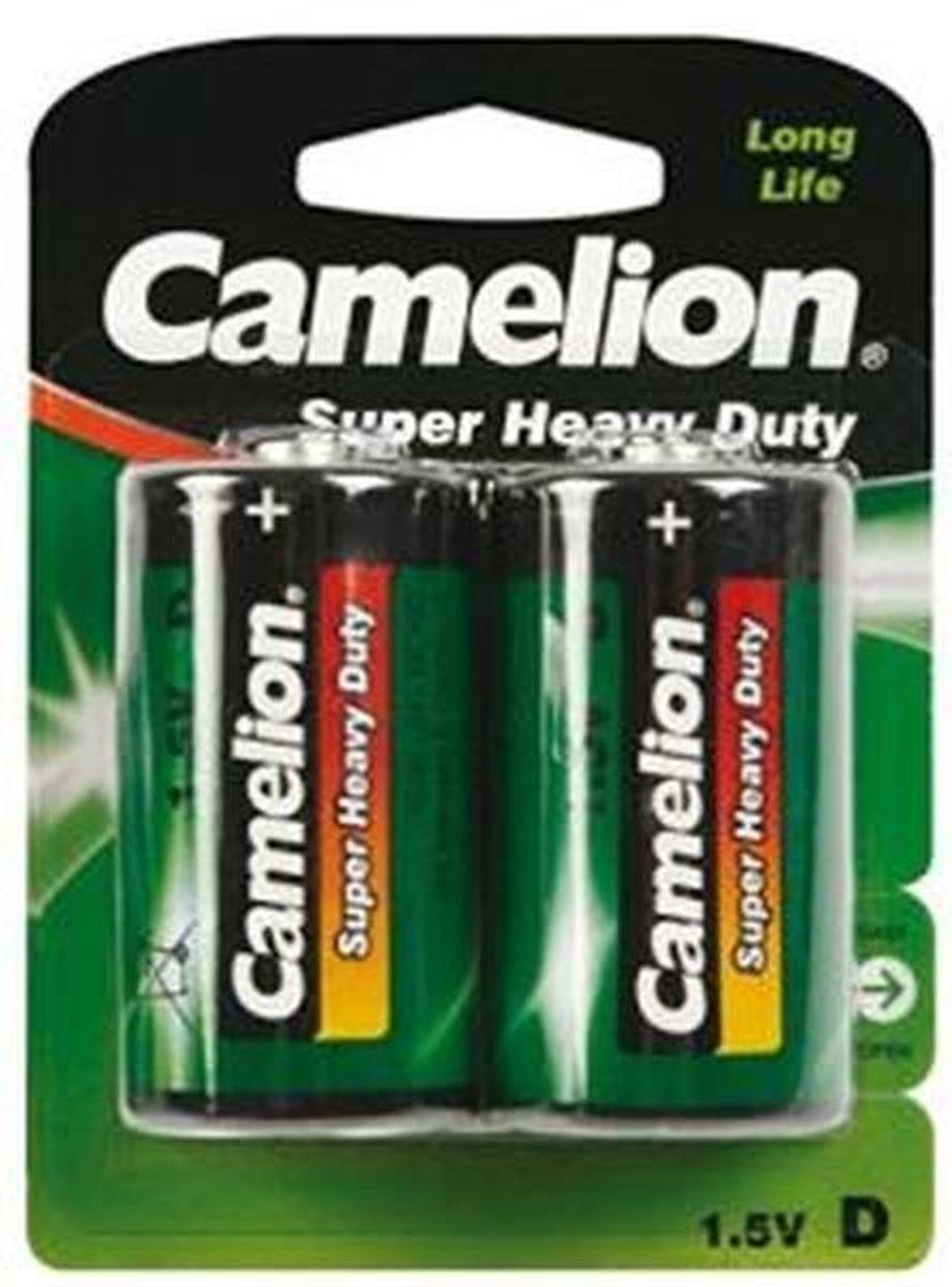 Батарейка R20P, Camelion GREEN, в блистере 2шт, цена за 1шт