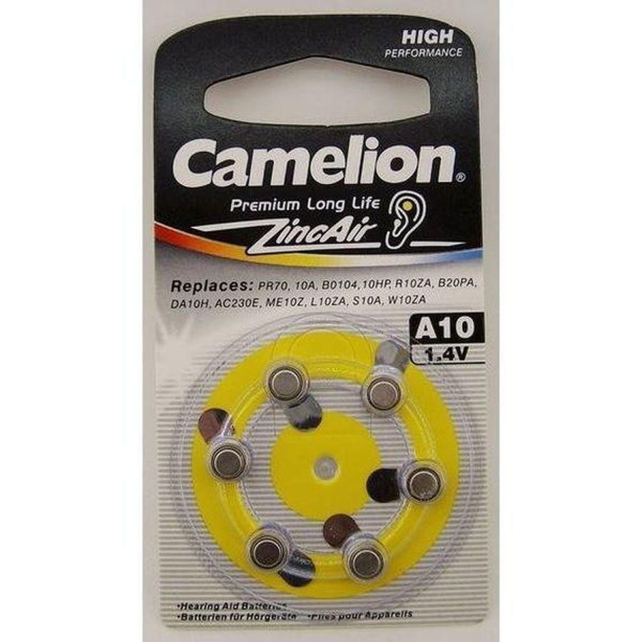 Батарейка A10 Camelion для слухового аппарата, в блистере 6шт, цена за 1шт