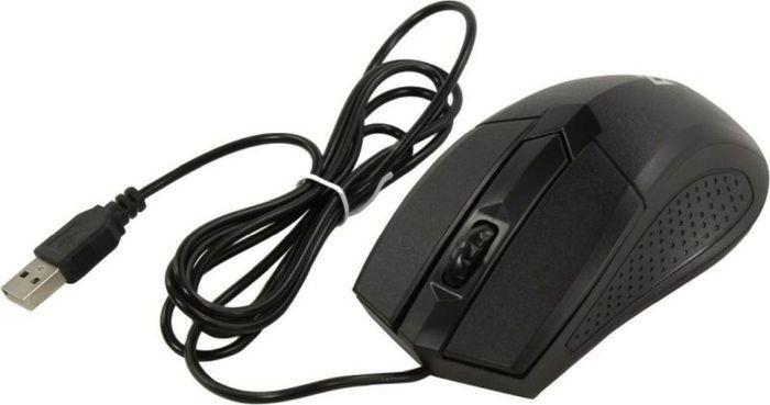 Мышь проводная Defender Optimum MB-270 черный,3 кнопки,1000 dpi