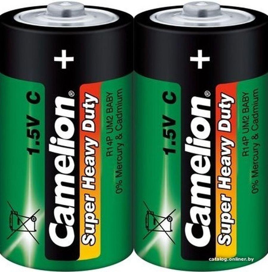 Батарейка R14P-SP2 Camelion green, в блистере 2шт, цена за 1шт