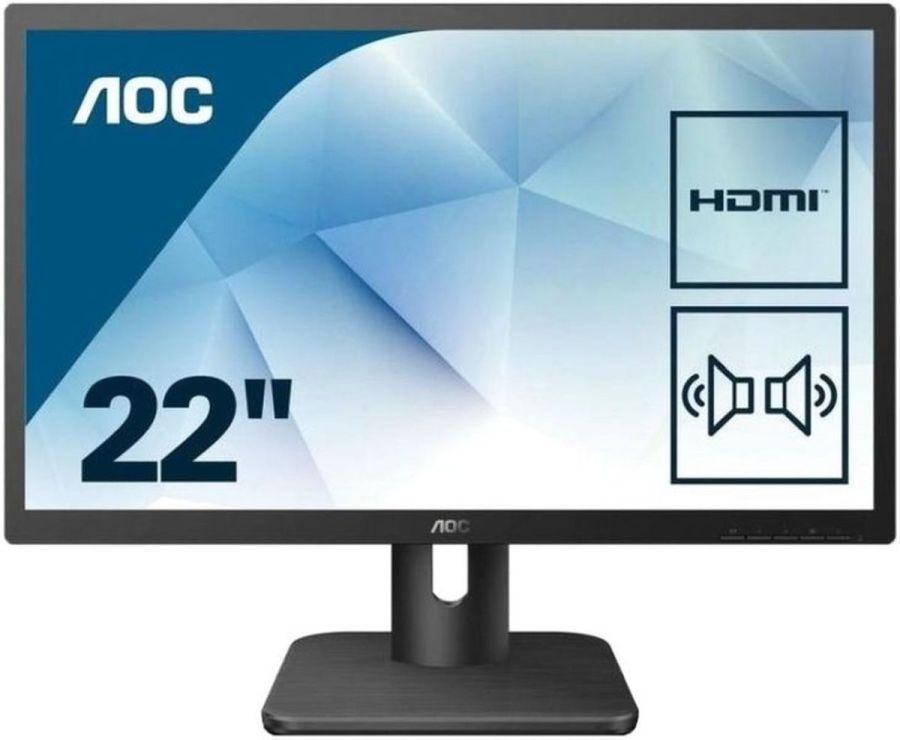 Монитор 21.5' AOC 22E1D, HDMI+DVI+D-Sub (VGA), колонки