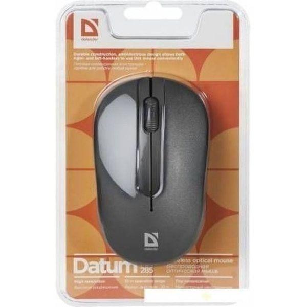 Беспроводная оптическая мышь Defender Datum MM-285 черный,3 кнопки,1600 dpi