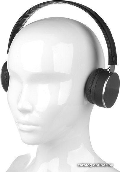 Bluetooth гарнитура Qumo Metallic ВТ0040, темно-серый металик, накладная