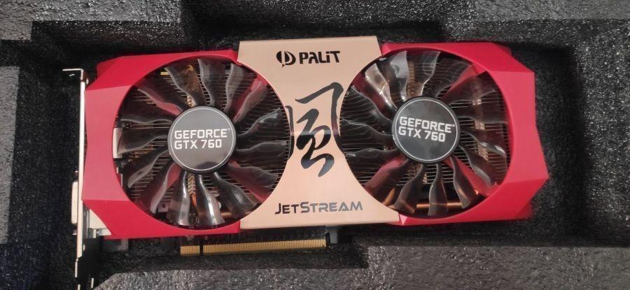 Видеокарта Palit GeForce GTX 760 JETSTREAM 2GB GDDR5 (NE5X760H1042-1042J)