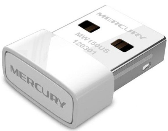Беспроводной USB2.0 адаптер Mercusys MW150US (USB 2.0)