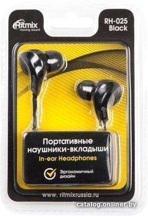 Наушники Наушники Ritmix RH-025 Black
