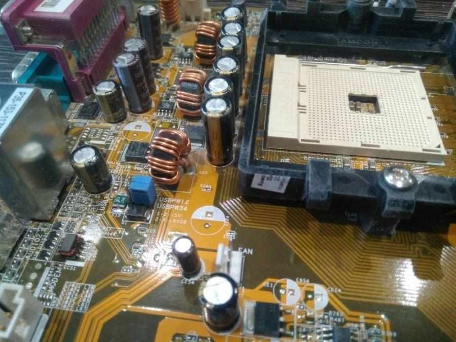Материнская плата ASUS K8N-E Socket754, 3x DDR1, БУ
