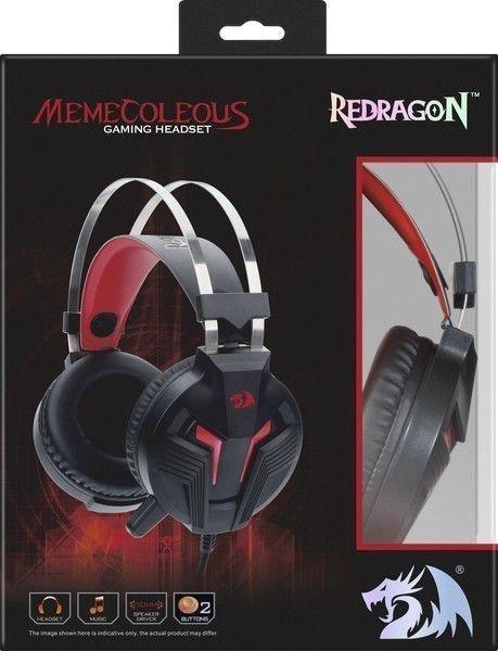 Игровая гарнитура Redragon Memecoleous, красный + черный, кабель 1,8 м