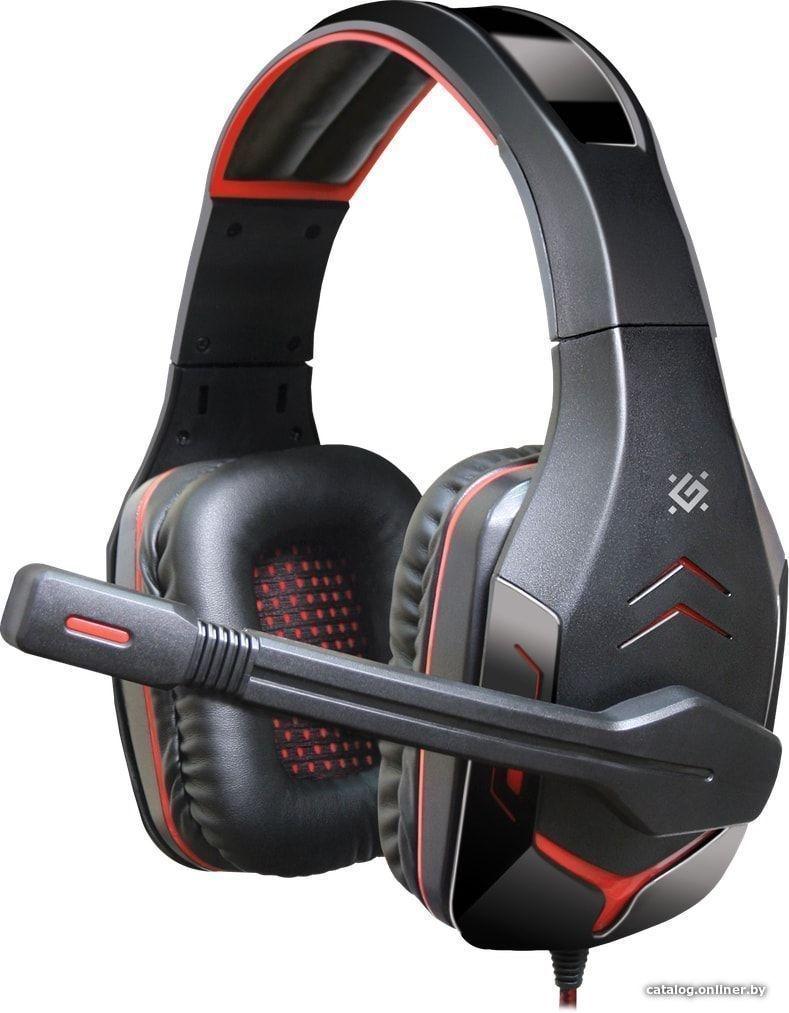Игровая гарнитура Defender Excidium красный + черный, кабель 2,2 м