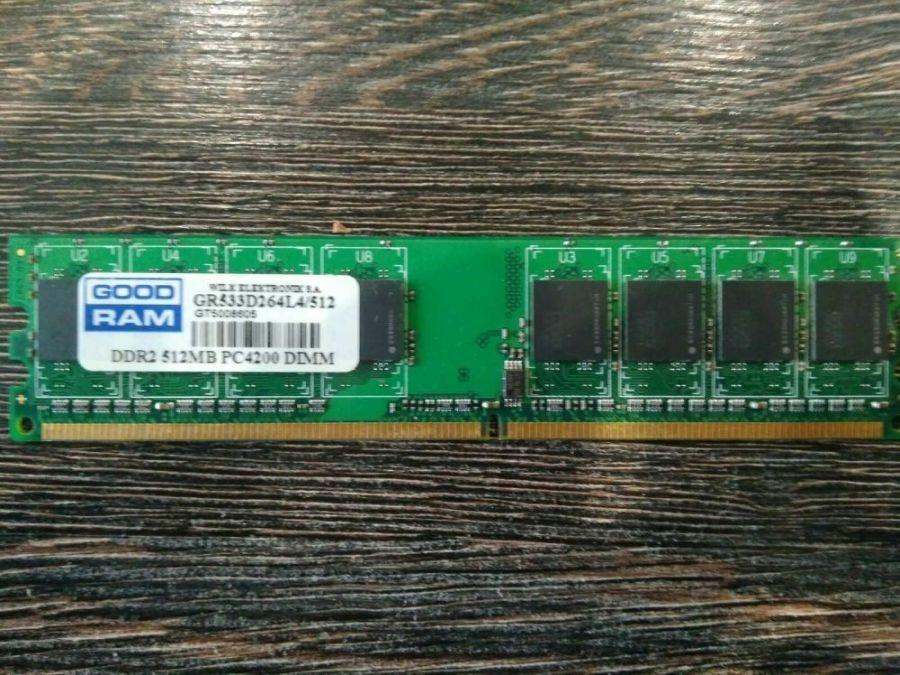 Модуль памяти DDR-2 512Mb GoodRAM, GR533D264L4/512 БУ