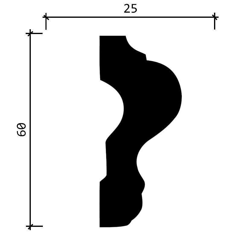 DD302/Молдинг (60x25x2000мм)/20