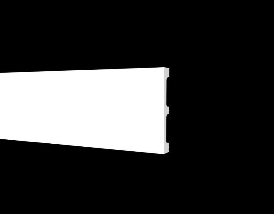 DD708 Плинтус напольный ударопрочный, влагостойкий под покраску  (80*13*2000 мм) 24 шт. в коробке