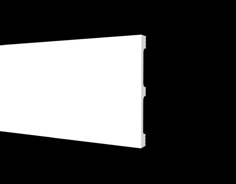 DD710 Плинтус напольный ударопрочный, влагостойкий под покраску  (120*13*2000 мм) 15 шт. в коробке