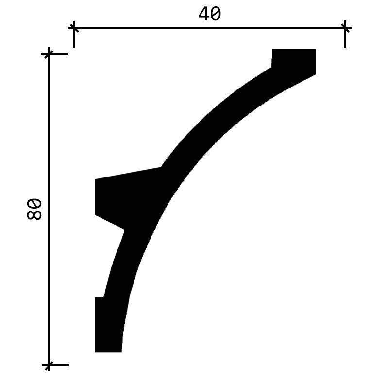 DD512/Карниз (80х40x2000мм)/, шт