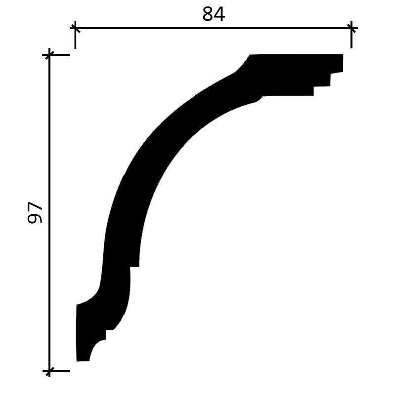 DD08/Карниз  (97x84x2000мм)/10, ШТ.