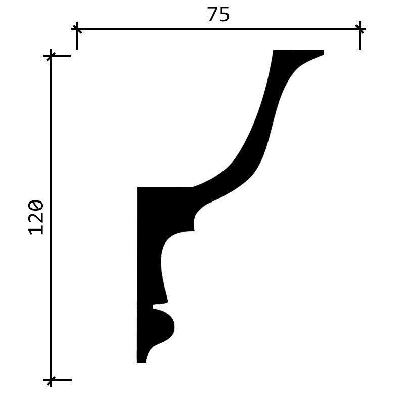 DD509/Карниз (120х75x2000мм)/, шт