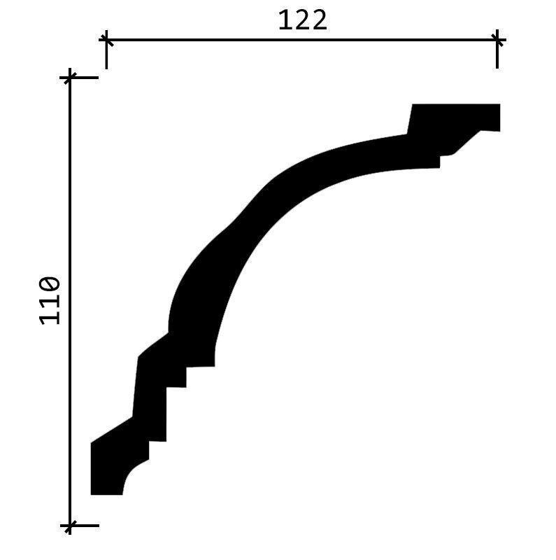 DD16/Карниз (122х110x2000мм)/6, ШТ.
