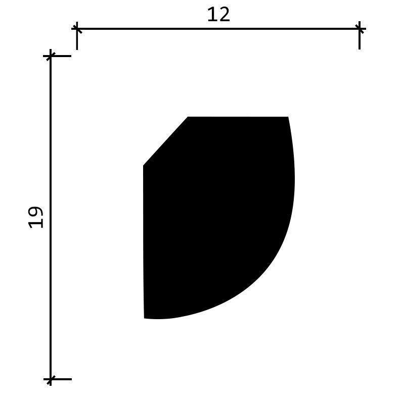 DD02/Карниз  (19x12x2000мм)/99, ШТ.