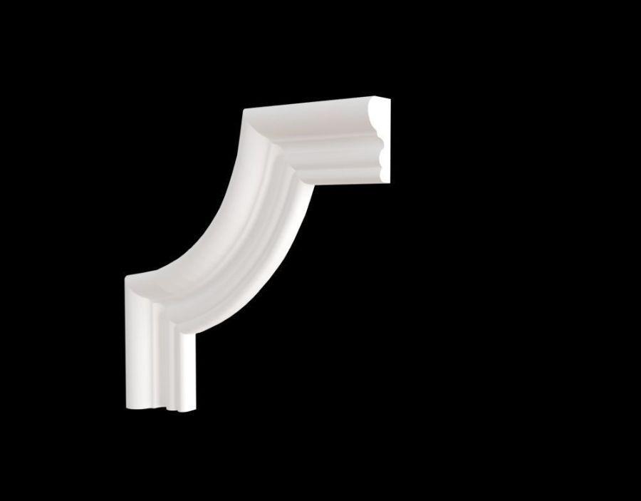 C1-DD608/Декоративный уголок гладкий (165*165*21мм)/4 шт. в упаковке