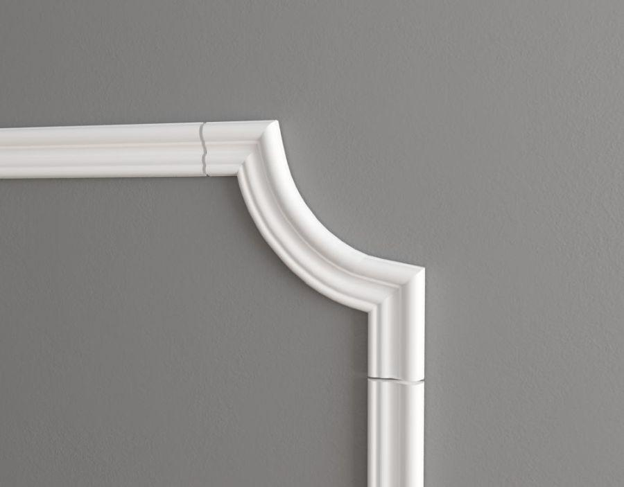 C1-DD400/Декоративный уголок гладкий (200*200*16мм)/4 шт. в упаковке