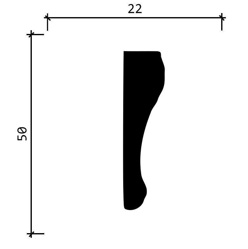 151 A/Молдинг (50х22х2000 мм)/32, ШТ.