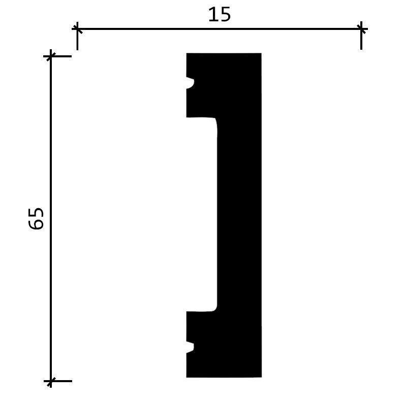 DD33/Молдинг (65x15x2000мм)/24, ШТ.