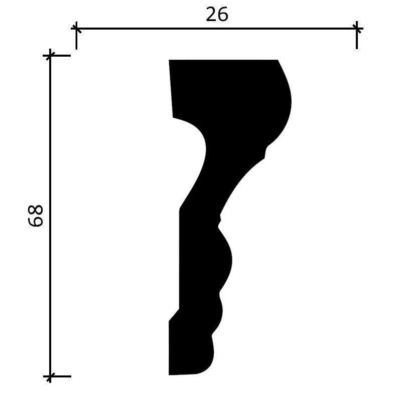 DD354/Молдинг (68x26x2000мм)/18