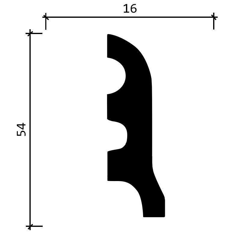 DD18/Плинтус(54х16x2000мм)/36, ШТ.