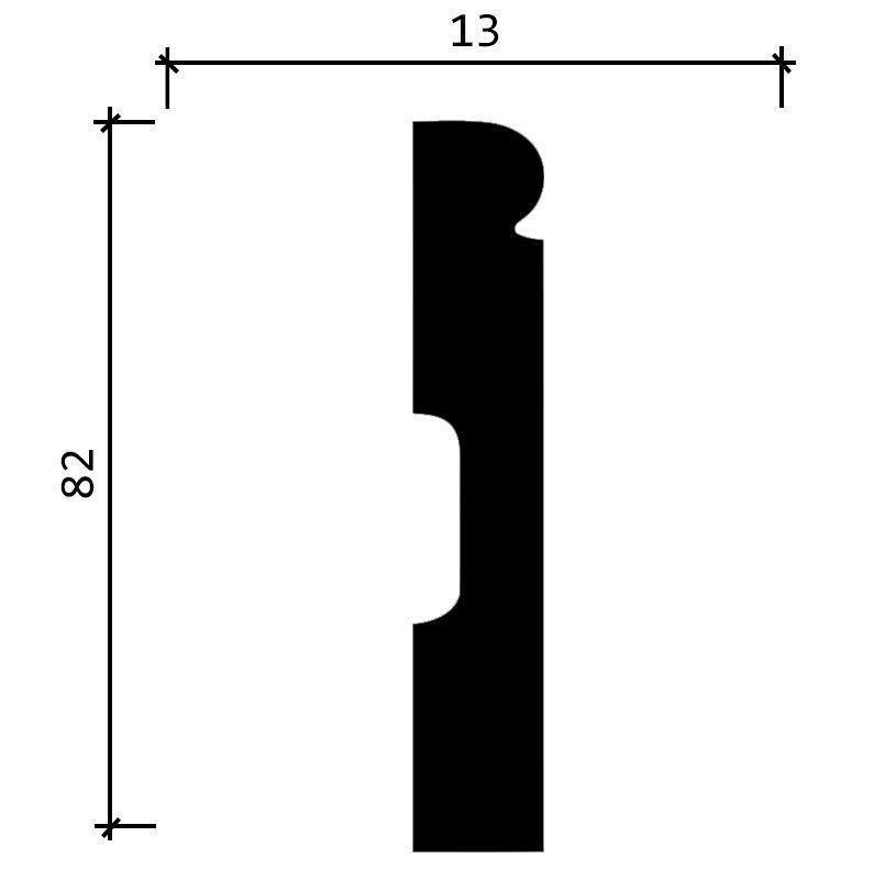 DD49/Плинтус (82x13x2000мм)/21, ШТ.