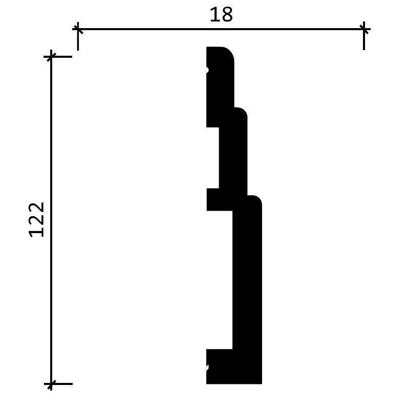 DD705/Плинтус (120х18x2000мм)/12, ШТ